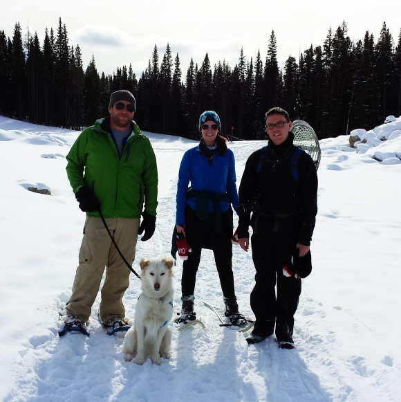 Snowshoeing friends