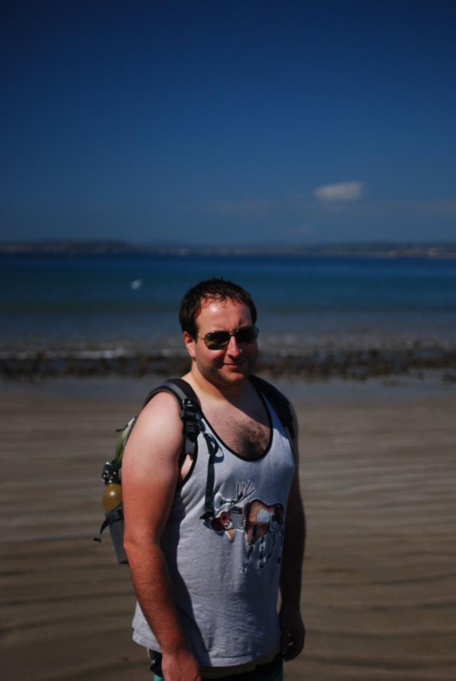 Z on the beach