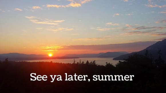 See ya later, summer