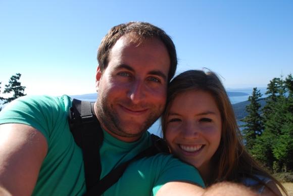 Heather and Zevi on Saturna