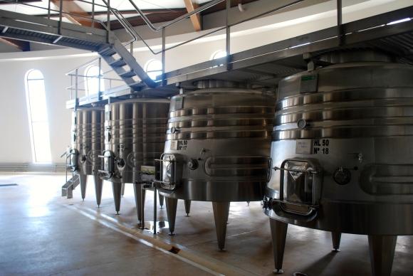 Wine barrels at Piatelli