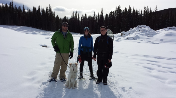Snowshoeing with Kyle and Nai