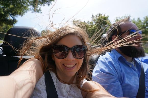 Napa convertible riding