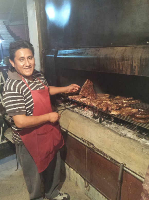 Chef at Cafayate parilla