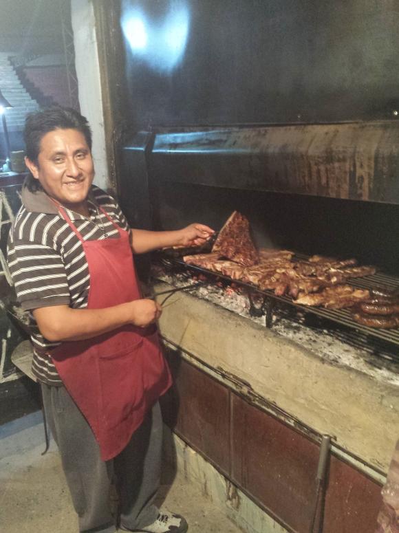 Chef at Cafayate parilla
