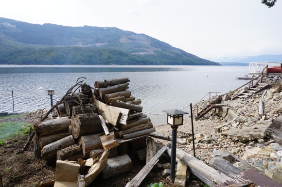 Shuswap woodpile view
