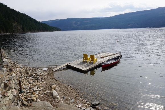 Shuswap dock view