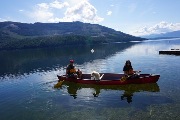 Shuswap canoeing